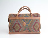 80s vintage large SOUTHWEST TAPESTRY weekender speedy handbag