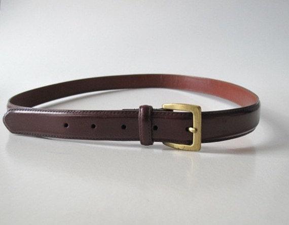 90s COACH burgundy cowhide belt / vintage burgundy leather belt / xl