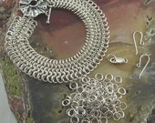 Kit for European 4-in-1 ChainMaille Bracelet in 18 Gauge Sterling Silver