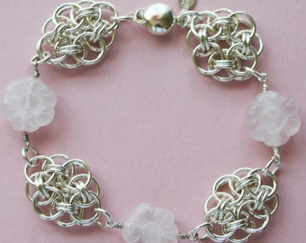 Chainmaille Bracelet English Rose Garden