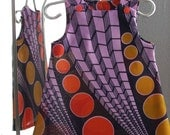 Infant Girls African Print Retro Circles Shift Dress - 12/18 months