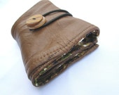 Toffee leather wallet