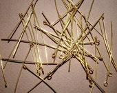 Gold Tone Eye or Loop Pins 0.028 X 2 inches (40)