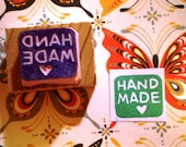 HANDMADE rubber stamp //mini hand carved rubber stamp