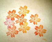 cherry blossom rubber stamp // hand carved and hand crafted