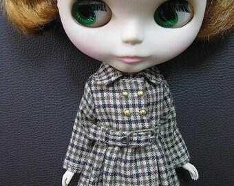 Checkered Dress Coat for Blythe