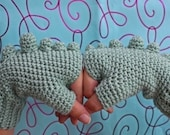 PATTERN - Rawr Fingerless Gloves - Free International Shipping