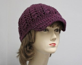 HUGE SALE - Faux Cabled Brimmed Beanie
