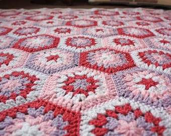 Hexagons Baby Blanket - Made to Order in Any Colours