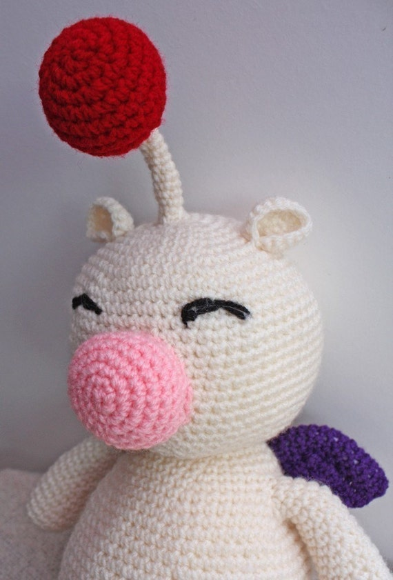 PATTERN - Crochet Moogle - Free International Shipping