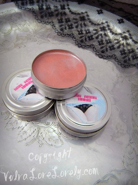 Shimmer Lip Balm- Vegan- Coconut Milk & Sliced Peaches 1 oz