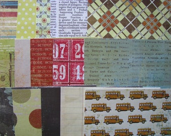 Academy - 6X6 Paper Pack, Cardstock, MME, My Minds Eye, Destash