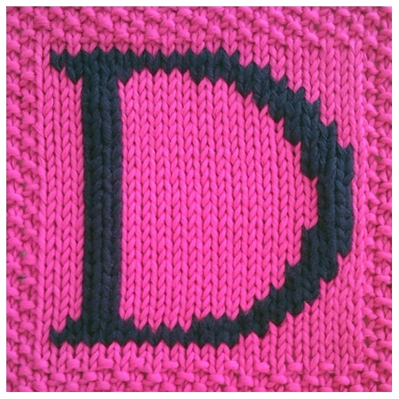 Knitting Letters Into Squares : Pdf knitting pattern capital letter d afghan by fionakelly