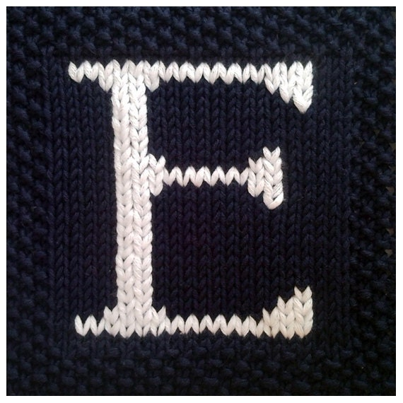 Knitting Pattern Numbers : PDF Knitting pattern capital letter E afghan / by FionaKelly