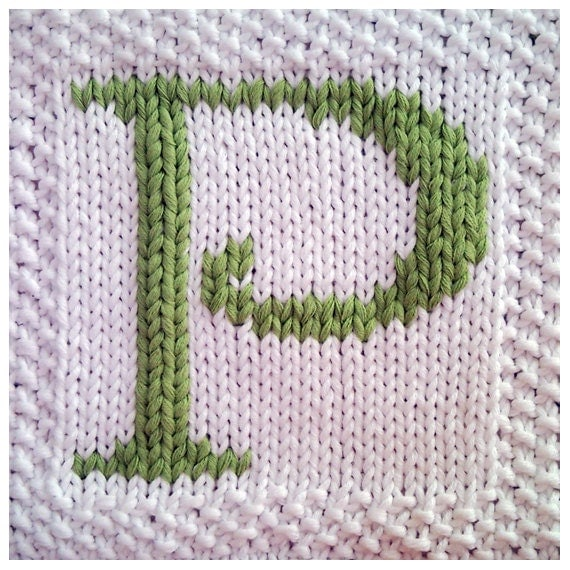 Knitting Pattern Alphabet Blanket : PDF Knitting pattern capital letter P afghan / by FionaKelly