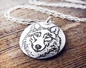 Wolf necklace in silver