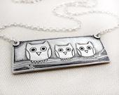 Owl family necklace no. 2