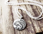 Tiny squirrel necklace, silver squirrel jewelry, animal jewelry, woodland creature, eco friendly recycled reclaimed