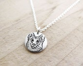 Tiny Corgi necklace, Corgi jewelry, silver dog jewelry, dog lover pendant