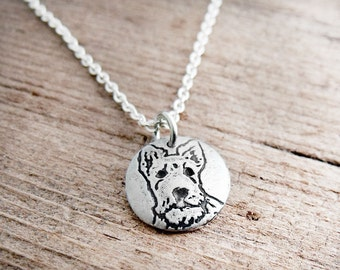 Tiny Scottie necklace, Scottish Terrier necklace, silver dog necklace