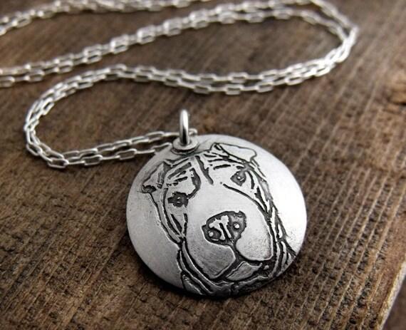 Dog necklace - Shar Pei