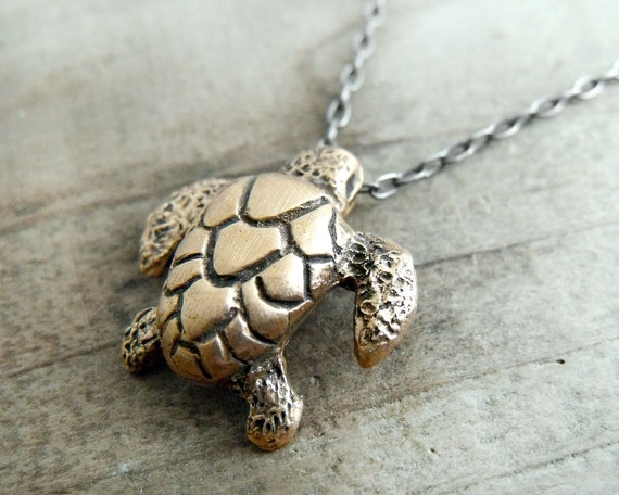 Bronze Sea Turtle necklace