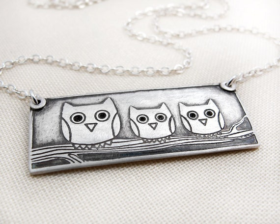 Owl family necklace no. 2