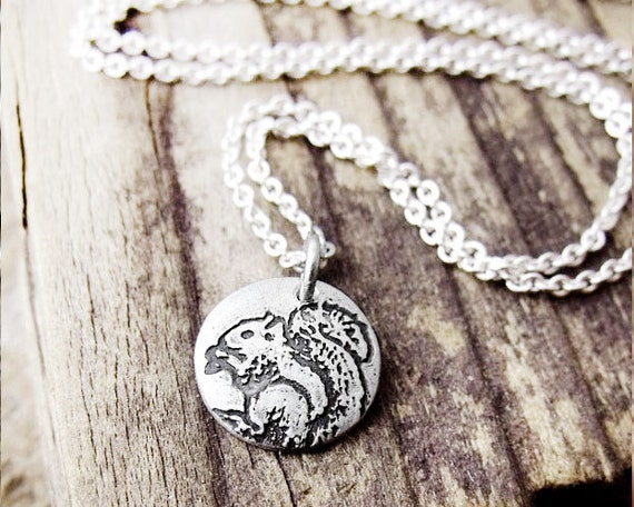 il 570xN.320778480 Tiny squirrel necklace, silver squirrel jewelry, animal jewelry, woodland creature, eco friendly recycled reclaimed by lulubugjewelry