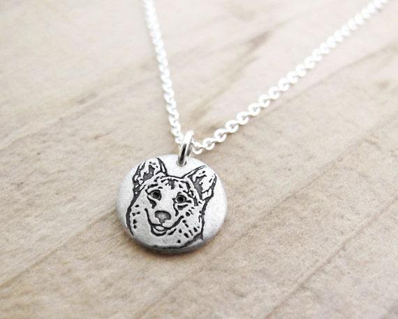 Tiny Corgi necklace, Corgi jewelry, silver dog jewelry, dog lover pendant