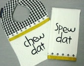 Saints inspired Bib and Burp Set