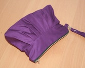 Purple  Eggplant Clutch with zipper