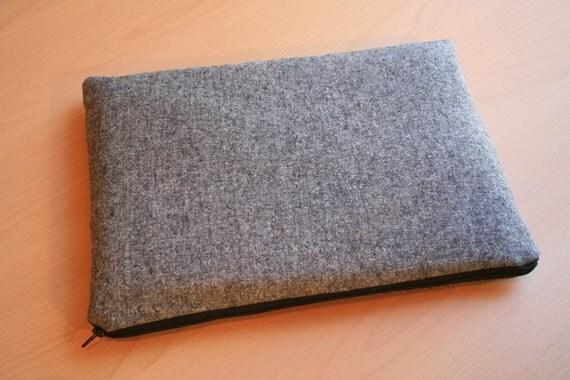 Laptop Sleeve 13 inch Macbook or 13 inch Macbook Pro- Gray Wool