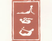 Yoga Poster // Woodblock Print // Available in Other Colors
