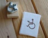 Les Assassins des Fauteuils Rollents- Original Hand Carved Stamp