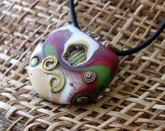 OOAK Hand Made Polimer Clay Pendant
