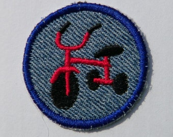 Tricycle   Iron On Patch / Merit Badge