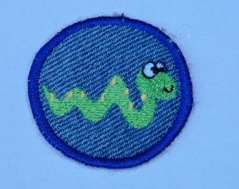 Happy Snake Iron On Patch / Merit Badge