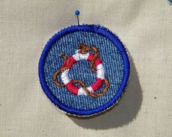 Iron On Life Preserver Patch / Merit Badge
