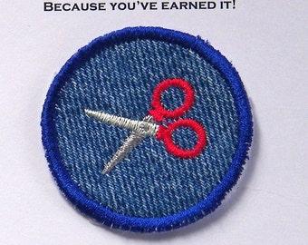 Scissors Iron-on Patch / Merit Badge