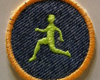 Runner Iron On Patch/Badge