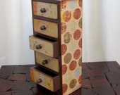 SALE Vintage Polka Dots Trinket Storage Box