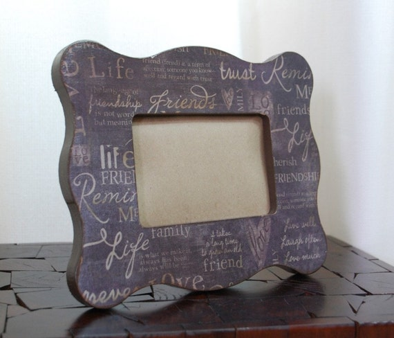 Friendship  Scalloped Wooden Picture Frame