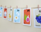 Nursery Art Print Alphabet Cards-Contemporary