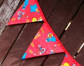 SALE Bunting / Flags / Pennant Strings - Big Bird, Elmo & Cookie Monster