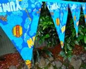 SALE Bunting / Flags / Pennant Strings - Cookie Monster