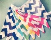 Bunting / Flags / Pennant Strings - Chevron Rainbow