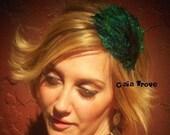 Peacock feather Headband Brides Feather Headband Wedding Feather Headband