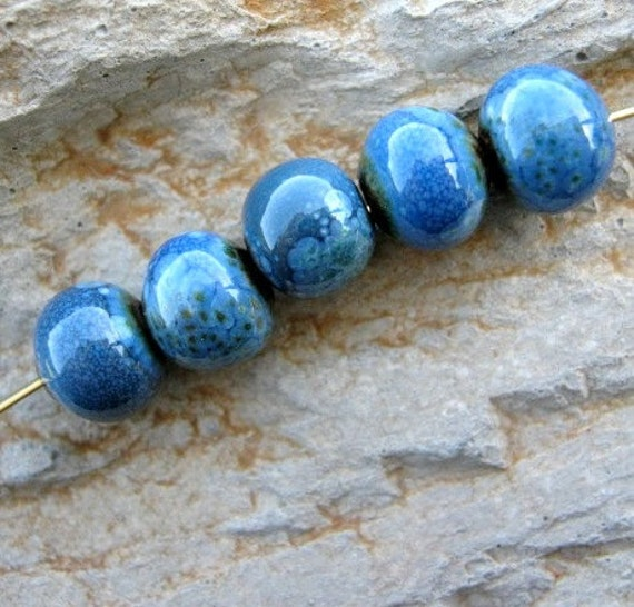 Under the Sea.... enameled copper beads