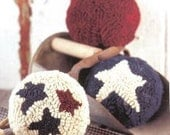 Patriotic Primitive Rug Hooked Balls Kit OFG Team