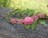 Vintage Copper Pink Rose Bracelet OFG PFATT